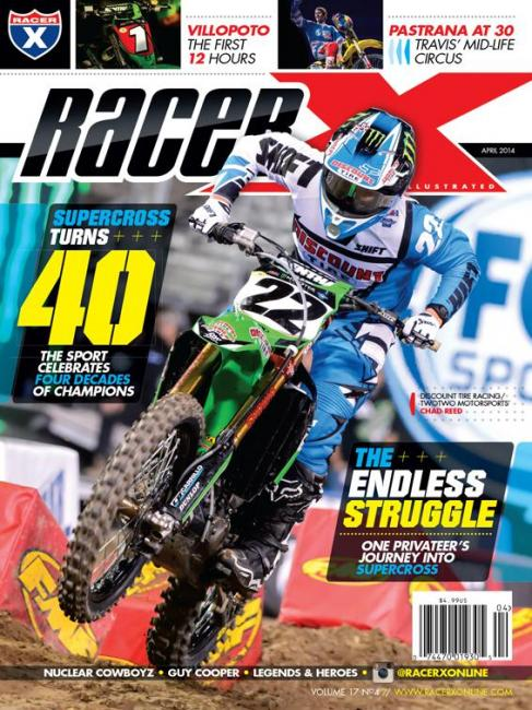 Chad Reed, featured on the newest issue of Racer X Illustrated, will try and ride through injury in Dallas.  Photo: Simon Cudby