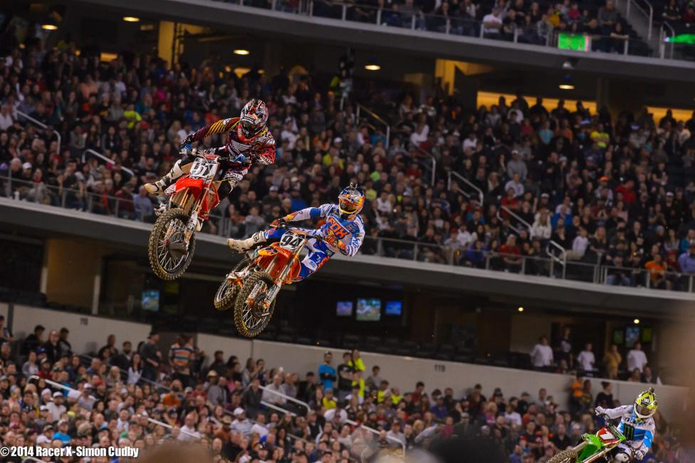 Barcia and Roczen had different opinions on what took place in the main Photo: Cudby