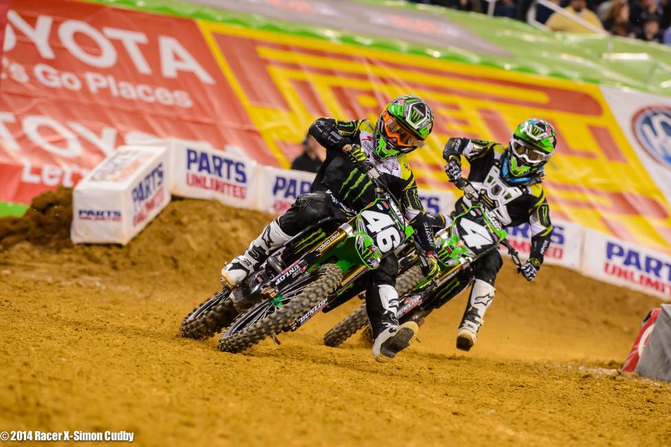 Baggett pushed Cianciarulo hard but the rookie didn't crack.Photo: Cudby