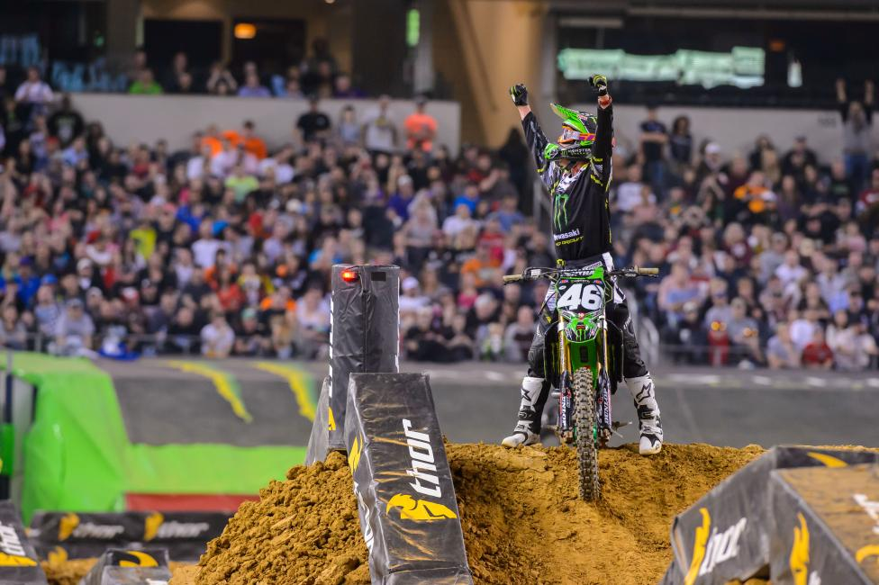 Cianciarulo joined a short list to win their first career 250SX race.Photo: Simon Cudby