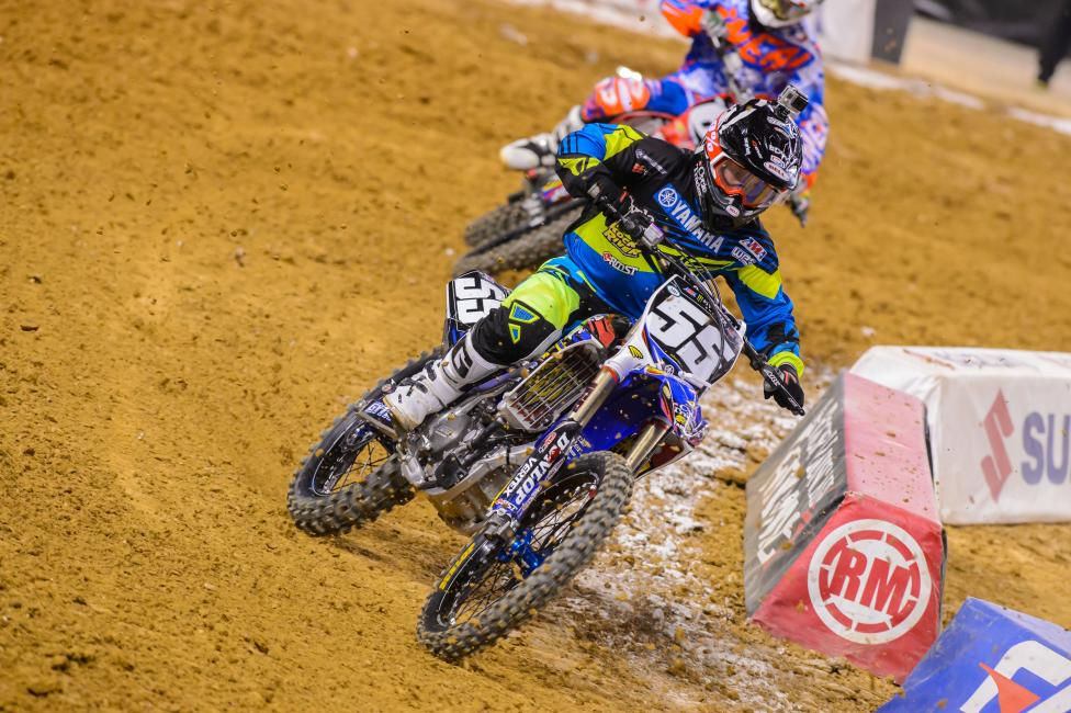 Alex Martin finished inside the top ten in his return to Monster Energy Supercross.