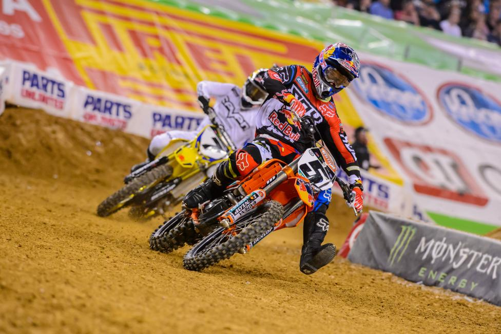 Ryan Dungey heads to Atlanta still looking for his first win of the season.