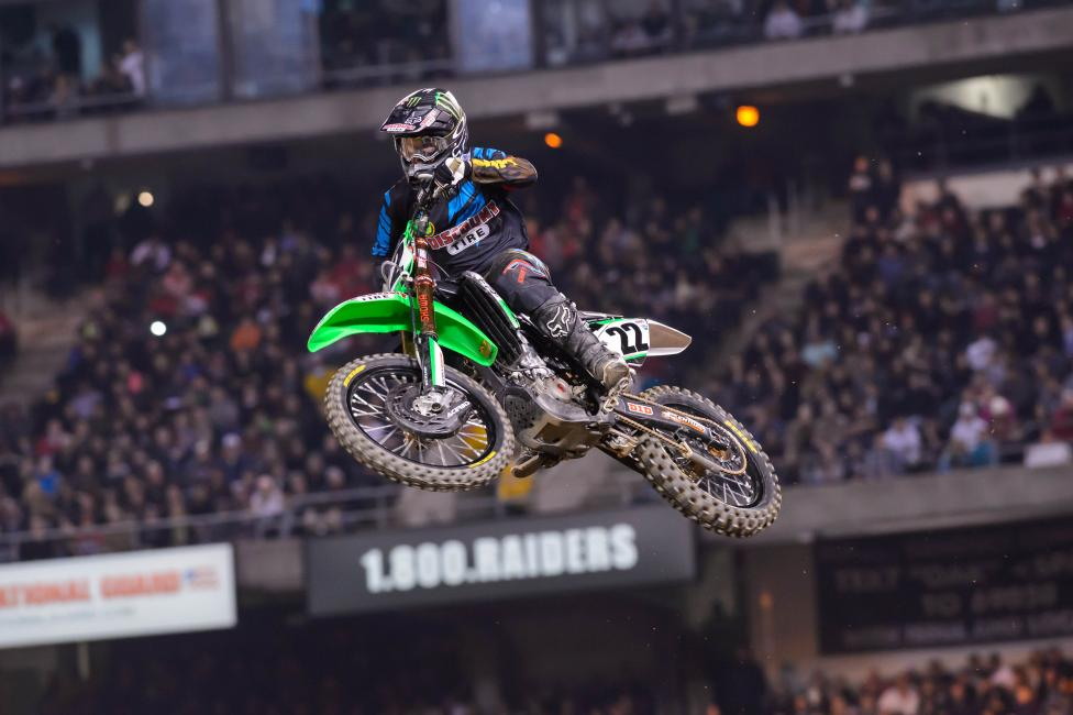 Chad Reed is expected to miss the rest of Monster Energy Supercross.  Photo: Simon Cudby