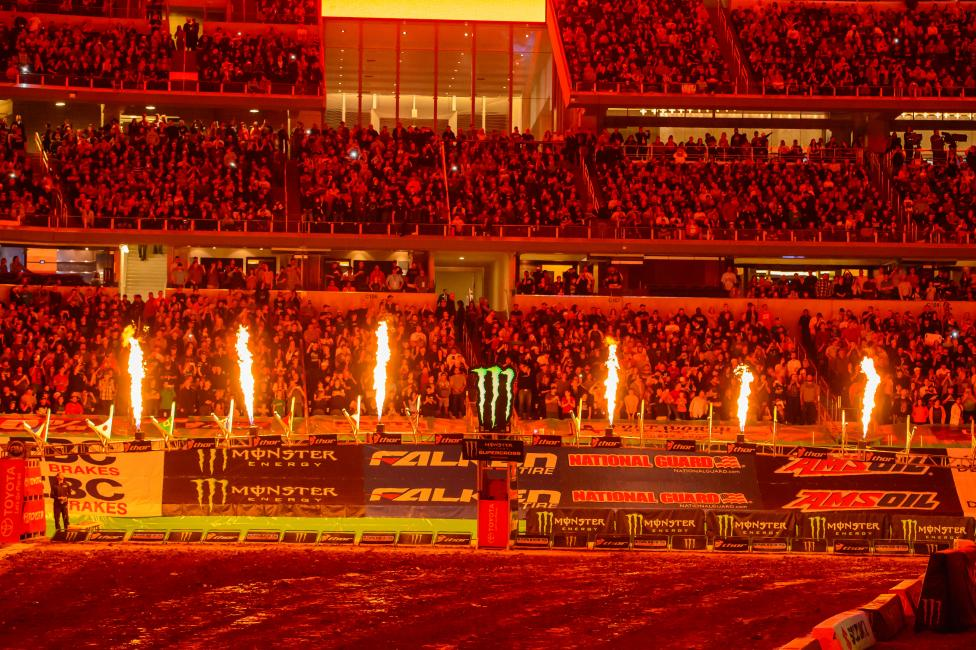 Hell, fire and brimstone during opening ceremonies. Most of the day at the races is pretty much the exact opposite of this. Photo: Simon Cudby