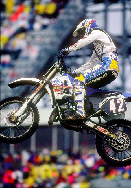 Brian Swink won his first supercross back in 1991.
