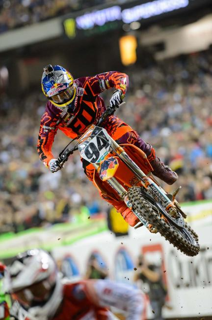 Roczen failed to double the finish line at one point, giving second place back to Villopoto.