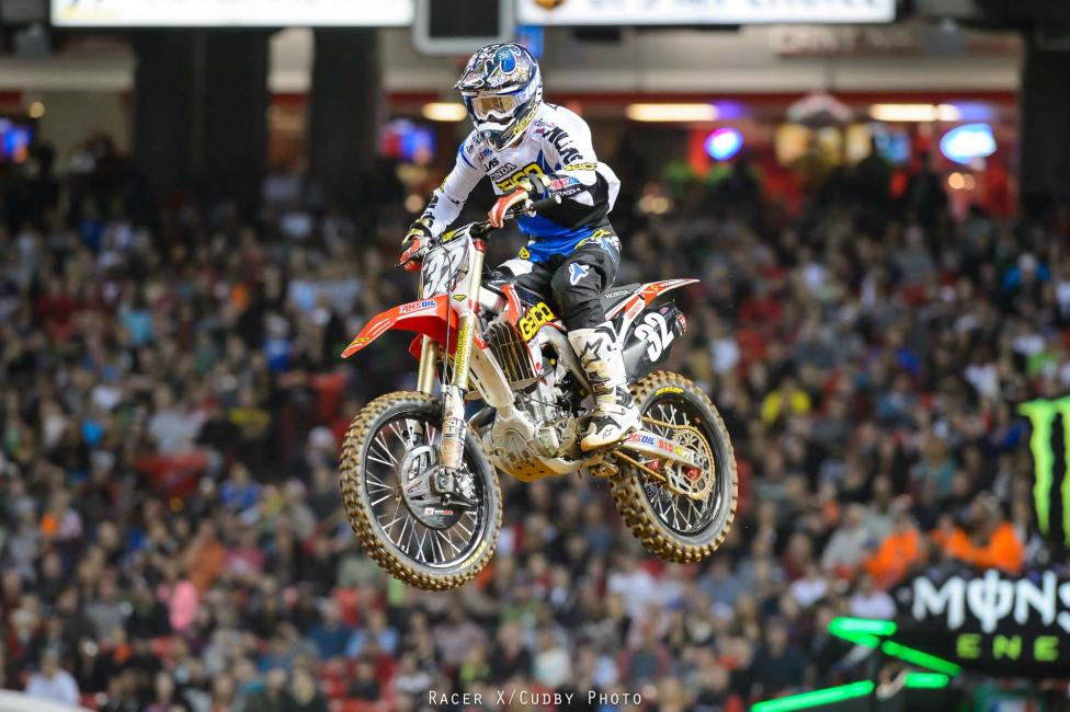 Solid ride from Justin Bogle to net third in the 250s. He missed all of supercross last year with a broken wrist.