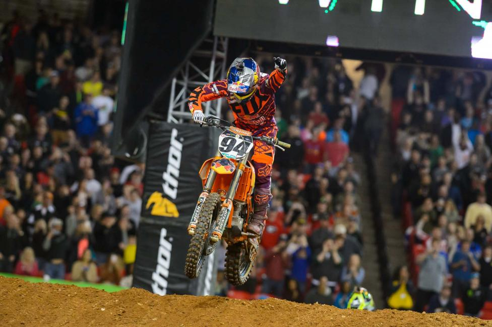 Ken Roczen captured the 450 win in Atlanta. Photo: Simon Cudby