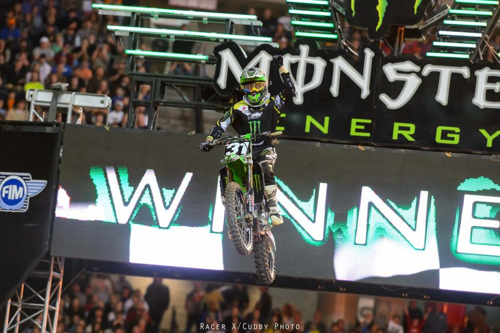 Martin Davalos won his first career race Saturday.