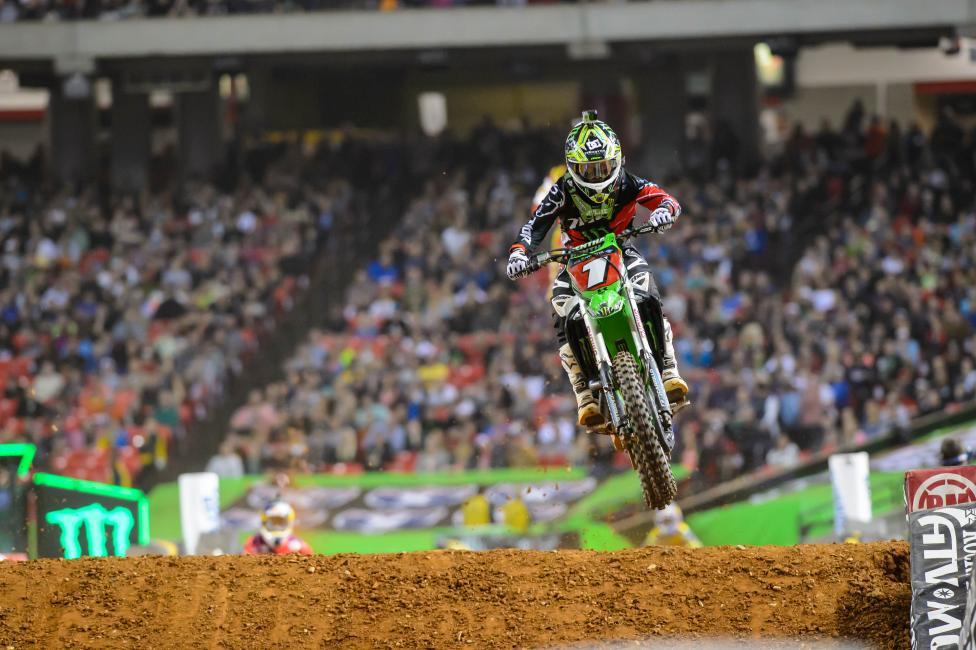 Ryan Villopoto is still in control of the championship through 8 rounds.  Photo: Simon Cudby