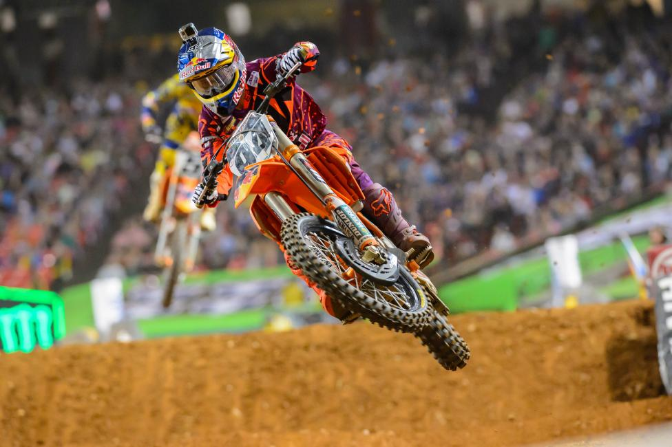Roczen captured his second win of the season in Atlanta.  Photo: Simon Cudby