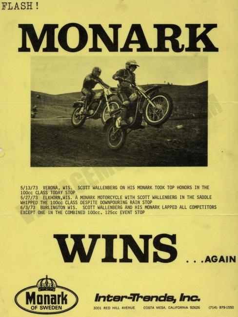 ... and somehow this slipped into Scott's contributions, a Monark win ad from 1973 starring a young Midwest go-getter named Scott Wallenberg!