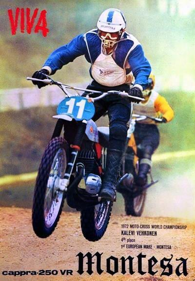 "Kalevi Vehkonen did not win the 250cc World Championships in 1972, but Montesa was stoked to be the ""top European brand""."