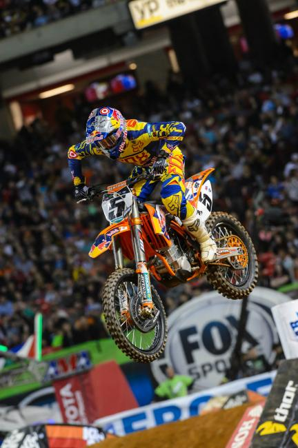 Ryan Dungey got third in Atlanta but (as usual) the drama and stories seem to be elsewhere. Could that change this weekend? Much to talk about for Indy!Photo: Cudby