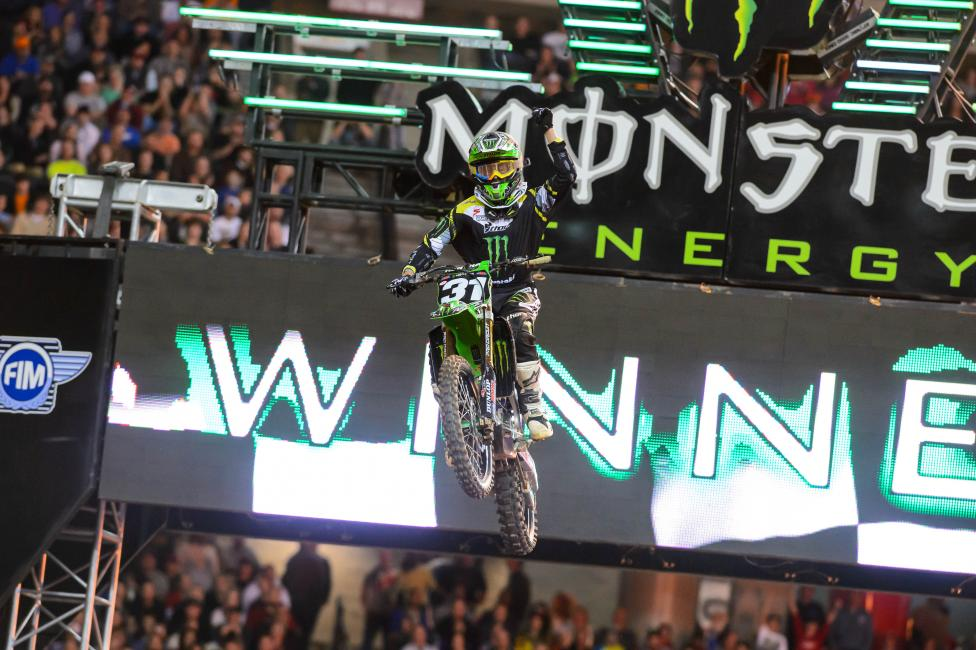 Martin Davalos and Monster Energy/Pro Circuit Kawasaki are on a roll. Photo: Simon Cudby