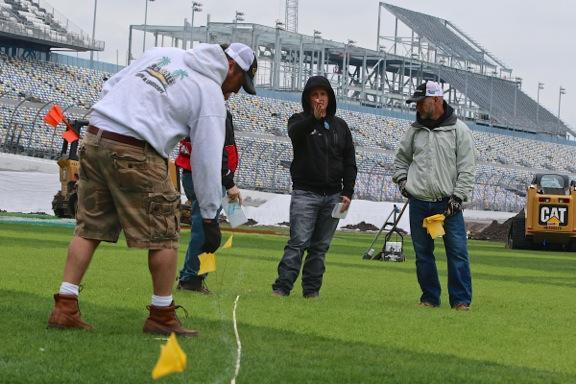 Construction is underway at Daytona. Photo: Daytona International Speedway