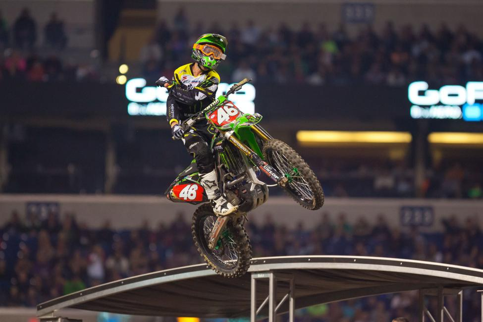 Cianciarulo took full advantage, until a costly mistake of his own let GEICO rookie Matt Bisceglia to close in. But Cianciarulo was able to use the quad to his advantage—the only 250 rider we saw hitting it—to open back up the lead, leading to his second win of the season. Bisceglia would eventually fall back to finish fourth—a career high for the rookie.