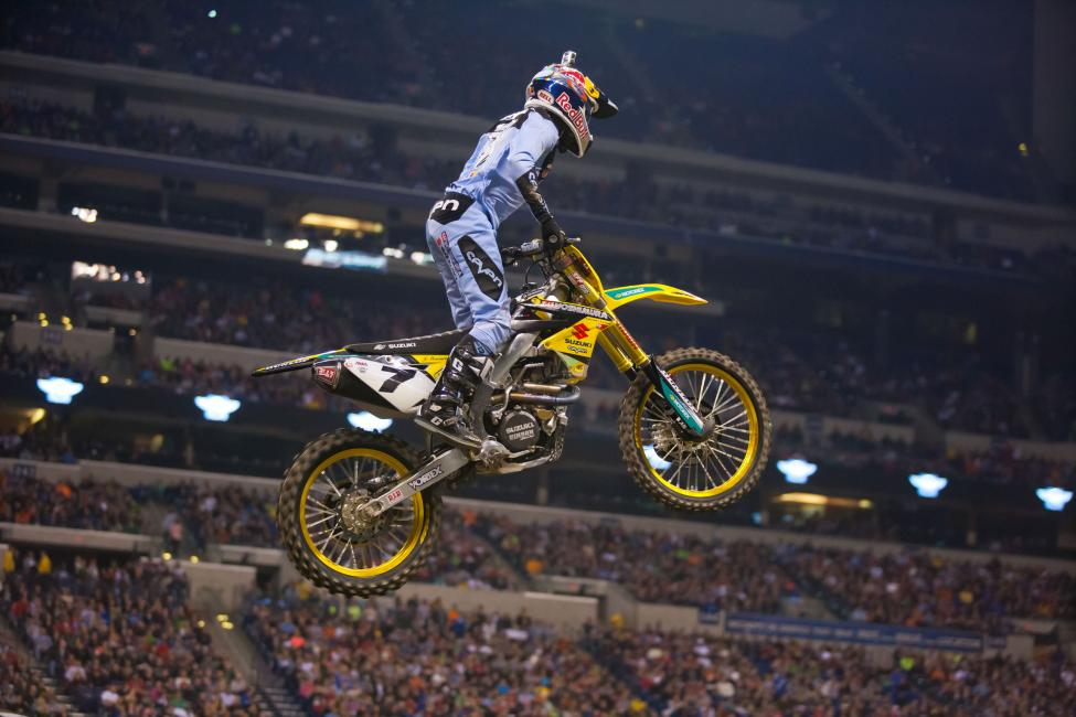 James Stewart was never in contention after the first turn, finishing the night seventh. With Ryan Dungey walking away with his first win, Eli Tomac and Mike Alessi were left to battle for second. And for a while, it looked like Alessi was going to hold on for his first podium since 2009 until he cross rutted on the tough rhythm section before the triple and left second for Tomac. Cole Seely, in his fill-in ride for Honda Muscle Milk, was strong all night. Seely would round out the podium—a career first. Ryan Dungey celebrates his first win of the season. Factory Metal Works/Club MX's Vince Friese would lead the 250SX class around the first corner, grabbing the holeshot over Monster Energy/Pro Circuit teammates Adam Cianciarulo and Martin Davalos. Davalos would quickly shoot into the lead, with Cianciarulo tow. Davalos opened up a quick gap, but a costly mistake in a deep rut—than went down to the plywood—left Martin scrambling to regain the lead. Cianciarulo took full advantage, until a costly mistake of his own let GEICO rookie Matt Bisceglia to close in. But Cianciarulo was able to use the quad to his advantage—the only 250 rider we saw hitting it—to open back up the lead, leading to his second win of the season. Bisceglia would eventually fall back to finish fourth—a career high for the rookie. GEICO Honda's Justin Bogle overcame another lackluster start to charge back and capture his second straight podium.450SX Overall1. R. Dungey2. E. Tomac3. C. Seely4. R. Villopoto5. B. Tickle6. A. Short7. J. Stewart8. J. Brayton9. J. Hill10. D. Wilson11. W. Hahn12. J. Grant13. N. Wey14. C. Blose15. M. Alessi16. K. Chisholm17. J. Albertson18. C. Gilmore19. N. Schmidt20. R. Stewart21. K. Roczen22. W. Peick450SX Class Season StandingsRyan Villopoto, Poulsbo, Wash., Kawasaki, 184Ryan Dungey, Belle Plaine, Minn., KTM, 161Ken Roczen, Murrieta, Calif., KTM, 158James Stewart, Haines City, Fla., Suzuki, 154Justin Brayton, Cornelius, N.C., 143Chad Reed, Dade City, Fla., Kawasaki, 111Justin Barcia, Pinetta, Fla., Honda, 109Andrew Short, Smithville, Texas, KTM, 109Wil Hahn, Menifee, Calif., Honda, 93Broc Tickle, Holly, Mich., Suzuki, 93250SX Overall1. A. Cianciarulo2. M. Davalos3. J. Bogle4. M. Bisceglia5. B. Baggett6. V. Friese7. J. Decotis8. M. Lemoine9. C. Thompson10. K. Cunningham11. A. Martin12. K. Peters13. M. Oldenburg14. A. Catanzaro15. J. Richardson16. J. Starling17. B. Nauditt18. J. Owen19. J. Martin20. B. Wharton21. P. Coates22. G. Faith Eastern Regional 250SX Class Season StandingsAdam Cianciarulo, Port Orange, Fla., Kawasaki, 72Martin Davalos, Cairo, Ga., Kawasaki, 67Justin Bogle, Cushing, Okla., Honda, 56Blake Baggett, Grand Terrace, Calif., Kawasaki, 54Vince Friese, Cape Girardeau, Mo., Honda, 48Cole Thompson, Brigden, Canada, KTM, 40James Decotis, Peabody, Mass., Honda, 34Blake Wharton, Beaumont, Texas, Honda, 33Kyle Cunningham, Aledo, Texas, Honda, 33Mitchell Oldenburg, Alvord, Texas, Honda, 30Photo: photographerPhoto: photographerWith Ryan Dungey walking away with his first win, Eli Tomac and Mike Alessi were left to battle for second. And for a while, it looked like Alessi was going to hold on for his first podium since 2009 until he cross rutted on the tough rhythm section before the triple and left second for Tomac. Cole Seely, in his fill-in ride for Honda Muscle Milk, was strong all night. Seely would round out the podium—a career first. Ryan Dungey celebrates his first win of the season. Factory Metal Works/Club MX's Vince Friese would lead the 250SX class around the first corner, grabbing the holeshot over Monster Energy/Pro Circuit teammates Adam Cianciarulo and Martin Davalos. Davalos would quickly shoot into the lead, with Cianciarulo tow. Davalos opened up a quick gap, but a costly mistake in a deep rut—than went down to the plywood—left Martin scrambling to regain the lead. Cianciarulo took full advantage, until a costly mistake of his own let GEICO rookie Matt Bisceglia to close in. But Cianciarulo was able to use the quad to his advantage—the only 250 rider we saw hitting it—to open back up the lead, leading to his second win of the season. Bisceglia would eventually fall back to finish fourth—a career high for the rookie. GEICO Honda's Justin Bogle overcame another lackluster start to charge back and capture his second straight podium.450SX Overall1. R. Dungey2. E. Tomac3. C. Seely4. R. Villopoto5. B. Tickle6. A. Short7. J. Stewart8. J. Brayton9. J. Hill10. D. Wilson11. W. Hahn12. J. Grant13. N. Wey14. C. Blose15. M. Alessi16. K. Chisholm17. J. Albertson18. C. Gilmore19. N. Schmidt20. R. Stewart21. K. Roczen22. W. Peick450SX Class Season StandingsRyan Villopoto, Poulsbo, Wash., Kawasaki, 184Ryan Dungey, Belle Plaine, Minn., KTM, 161Ken Roczen, Murrieta, Calif., KTM, 158James Stewart, Haines City, Fla., Suzuki, 154Justin Brayton, Cornelius, N.C., 143Chad Reed, Dade City, Fla., Kawasaki, 111Justin Barcia, Pinetta, Fla., Honda, 109Andrew Short, Smithville, Texas, KTM, 109Wil Hahn, Menifee, Calif., Honda, 93Broc Tickle, Holly, Mich., Suzuki, 93250SX Overall1. A. Cianciarulo2. M. Davalos3. J. Bogle4. M. Bisceglia5. B. Baggett6. V. Friese7. J. Decotis8. M. Lemoine9. C. Thompson10. K. Cunningham11. A. Martin12. K. Peters13. M. Oldenburg14. A. Catanzaro15. J. Richardson16. J. Starling17. B. Nauditt18. J. Owen19. J. Martin20. B. Wharton21. P. Coates22. G. Faith Eastern Regional 250SX Class Season StandingsAdam Cianciarulo, Port Orange, Fla., Kawasaki, 72Martin Davalos, Cairo, Ga., Kawasaki, 67Justin Bogle, Cushing, Okla., Honda, 56Blake Baggett, Grand Terrace, Calif., Kawasaki, 54Vince Friese, Cape Girardeau, Mo., Honda, 48Cole Thompson, Brigden, Canada, KTM, 40James Decotis, Peabody, Mass., Honda, 34Blake Wharton, Beaumont, Texas, Honda, 33Kyle Cunningham, Aledo, Texas, Honda, 33Mitchell Oldenburg, Alvord, Texas, Honda, 30Photo: photographerPhoto: photographerCole Seely, in his fill-in ride for Honda Muscle Milk, was strong all night. Seely would round out the podium—a career first. Ryan Dungey celebrates his first win of the season. Factory Metal Works/Club MX's Vince Friese would lead the 250SX class around the first corner, grabbing the holeshot over Monster Energy/Pro Circuit teammates Adam Cianciarulo and Martin Davalos. Davalos would quickly shoot into the lead, with Cianciarulo tow. Davalos opened up a quick gap, but a costly mistake in a deep rut—than went down to the plywood—left Martin scrambling to regain the lead. Cianciarulo took full advantage, until a costly mistake of his own let GEICO rookie Matt Bisceglia to close in. But Cianciarulo was able to use the quad to his advantage—the only 250 rider we saw hitting it—to open back up the lead, leading to his second win of the season. Bisceglia would eventually fall back to finish fourth—a career high for the rookie. GEICO Honda's Justin Bogle overcame another lackluster start to charge back and capture his second straight podium.450SX Overall1. R. Dungey2. E. Tomac3. C. Seely4. R. Villopoto5. B. Tickle6. A. Short7. J. Stewart8. J. Brayton9. J. Hill10. D. Wilson11. W. Hahn12. J. Grant13. N. Wey14. C. Blose15. M. Alessi16. K. Chisholm17. J. Albertson18. C. Gilmore19. N. Schmidt20. R. Stewart21. K. Roczen22. W. Peick450SX Class Season StandingsRyan Villopoto, Poulsbo, Wash., Kawasaki, 184Ryan Dungey, Belle Plaine, Minn., KTM, 161Ken Roczen, Murrieta, Calif., KTM, 158James Stewart, Haines City, Fla., Suzuki, 154Justin Brayton, Cornelius, N.C., 143Chad Reed, Dade City, Fla., Kawasaki, 111Justin Barcia, Pinetta, Fla., Honda, 109Andrew Short, Smithville, Texas, KTM, 109Wil Hahn, Menifee, Calif., Honda, 93Broc Tickle, Holly, Mich., Suzuki, 93250SX Overall1. A. Cianciarulo2. M. Davalos3. J. Bogle4. M. Bisceglia5. B. Baggett6. V. Friese7. J. Decotis8. M. Lemoine9. C. Thompson10. K. Cunningham11. A. Martin12. K. Peters13. M. Oldenburg14. A. Catanzaro15. J. Richardson16. J. Starling17. B. Nauditt18. J. Owen19. J. Martin20. B. Wharton21. P. Coates22. G. Faith Eastern Regional 250SX Class Season StandingsAdam Cianciarulo, Port Orange, Fla., Kawasaki, 72Martin Davalos, Cairo, Ga., Kawasaki, 67Justin Bogle, Cushing, Okla., Honda, 56Blake Baggett, Grand Terrace, Calif., Kawasaki, 54Vince Friese, Cape Girardeau, Mo., Honda, 48Cole Thompson, Brigden, Canada, KTM, 40James Decotis, Peabody, Mass., Honda, 34Blake Wharton, Beaumont, Texas, Honda, 33Kyle Cunningham, Aledo, Texas, Honda, 33Mitchell Oldenburg, Alvord, Texas, Honda, 30Photo: photographerPhoto: photographerRyan Dungey celebrates his first win of the season.Factory Metal Works/Club MX's Vince Friese would lead the 250SX class around the first corner, grabbing the holeshot over Monster Energy/Pro Circuit teammates Adam Cianciarulo and Martin Davalos. Davalos would quickly shoot into the lead, with Cianciarulo tow. Davalos opened up a quick gap, but a costly mistake in a deep rut—than went down to the plywood—left Martin scrambling to regain the lead. Cianciarulo took full advantage, until a costly mistake of his own let GEICO rookie Matt Bisceglia to close in. But Cianciarulo was able to use the quad to his advantage—the only 250 rider we saw hitting it—to open back up the lead, leading to his second win of the season. Bisceglia would eventually fall back to finish fourth—a career high for the rookie. GEICO Honda's Justin Bogle overcame another lackluster start to charge back and capture his second straight podium.450SX Overall1. R. Dungey2. E. Tomac3. C. Seely4. R. Villopoto5. B. Tickle6. A. Short7. J. Stewart8. J. Brayton9. J. Hill10. D. Wilson11. W. Hahn12. J. Grant13. N. Wey14. C. Blose15. M. Alessi16. K. Chisholm17. J. Albertson18. C. Gilmore19. N. Schmidt20. R. Stewart21. K. Roczen22. W. Peick450SX Class Season StandingsRyan Villopoto, Poulsbo, Wash., Kawasaki, 184Ryan Dungey, Belle Plaine, Minn., KTM, 161Ken Roczen, Murrieta, Calif., KTM, 158James Stewart, Haines City, Fla., Suzuki, 154Justin Brayton, Cornelius, N.C., 143Chad Reed, Dade City, Fla., Kawasaki, 111Justin Barcia, Pinetta, Fla., Honda, 109Andrew Short, Smithville, Texas, KTM, 109Wil Hahn, Menifee, Calif., Honda, 93Broc Tickle, Holly, Mich., Suzuki, 93250SX Overall1. A. Cianciarulo2. M. Davalos3. J. Bogle4. M. Bisceglia5. B. Baggett6. V. Friese7. J. Decotis8. M. Lemoine9. C. Thompson10. K. Cunningham11. A. Martin12. K. Peters13. M. Oldenburg14. A. Catanzaro15. J. Richardson16. J. Starling17. B. Nauditt18. J. Owen19. J. Martin20. B. Wharton21. P. Coates22. G. Faith Eastern Regional 250SX Class Season StandingsAdam Cianciarulo, Port Orange, Fla., Kawasaki, 72Martin Davalos, Cairo, Ga., Kawasaki, 67Justin Bogle, Cushing, Okla., Honda, 56Blake Baggett, Grand Terrace, Calif., Kawasaki, 54Vince Friese, Cape Girardeau, Mo., Honda, 48Cole Thompson, Brigden, Canada, KTM, 40James Decotis, Peabody, Mass., Honda, 34Blake Wharton, Beaumont, Texas, Honda, 33Kyle Cunningham, Aledo, Texas, Honda, 33Mitchell Oldenburg, Alvord, Texas, Honda, 30Photo: photographerPhoto: photographerDavalos would quickly shoot into the lead, with Cianciarulo tow. Davalos opened up a quick gap, but a costly mistake in a deep rut—than went down to the plywood—left Martin scrambling to regain the lead. Cianciarulo took full advantage, until a costly mistake of his own let GEICO rookie Matt Bisceglia to close in. But Cianciarulo was able to use the quad to his advantage—the only 250 rider we saw hitting it—to open back up the lead, leading to his second win of the season. Bisceglia would eventually fall back to finish fourth—a career high for the rookie. GEICO Honda's Justin Bogle overcame another lackluster start to charge back and capture his second straight podium.450SX Overall1. R. Dungey2. E. Tomac3. C. Seely4. R. Villopoto5. B. Tickle6. A. Short7. J. Stewart8. J. Brayton9. J. Hill10. D. Wilson11. W. Hahn12. J. Grant13. N. Wey14. C. Blose15. M. Alessi16. K. Chisholm17. J. Albertson18. C. Gilmore19. N. Schmidt20. R. Stewart21. K. Roczen22. W. Peick450SX Class Season StandingsRyan Villopoto, Poulsbo, Wash., Kawasaki, 184Ryan Dungey, Belle Plaine, Minn., KTM, 161Ken Roczen, Murrieta, Calif., KTM, 158James Stewart, Haines City, Fla., Suzuki, 154Justin Brayton, Cornelius, N.C., 143Chad Reed, Dade City, Fla., Kawasaki, 111Justin Barcia, Pinetta, Fla., Honda, 109Andrew Short, Smithville, Texas, KTM, 109Wil Hahn, Menifee, Calif., Honda, 93Broc Tickle, Holly, Mich., Suzuki, 93250SX Overall1. A. Cianciarulo2. M. Davalos3. J. Bogle4. M. Bisceglia5. B. Baggett6. V. Friese7. J. Decotis8. M. Lemoine9. C. Thompson10. K. Cunningham11. A. Martin12. K. Peters13. M. Oldenburg14. A. Catanzaro15. J. Richardson16. J. Starling17. B. Nauditt18. J. Owen19. J. Martin20. B. Wharton21. P. Coates22. G. Faith Eastern Regional 250SX Class Season StandingsAdam Cianciarulo, Port Orange, Fla., Kawasaki, 72Martin Davalos, Cairo, Ga., Kawasaki, 67Justin Bogle, Cushing, Okla., Honda, 56Blake Baggett, Grand Terrace, Calif., Kawasaki, 54Vince Friese, Cape Girardeau, Mo., Honda, 48Cole Thompson, Brigden, Canada, KTM, 40James Decotis, Peabody, Mass., Honda, 34Blake Wharton, Beaumont, Texas, Honda, 33Kyle Cunningham, Aledo, Texas, Honda, 33Mitchell Oldenburg, Alvord, Texas, Honda, 30Photo: photographerPhoto: photographerCianciarulo took full advantage, until a costly mistake of his own let GEICO rookie Matt Bisceglia to close in. But Cianciarulo was able to use the quad to his advantage—the only 250 rider we saw hitting it—to open back up the lead, leading to his second win of the season. Bisceglia would eventually fall back to finish fourth—a career high for the rookie. GEICO Honda's Justin Bogle overcame another lackluster start to charge back and capture his second straight podium.450SX Overall1. R. Dungey2. E. Tomac3. C. Seely4. R. Villopoto5. B. Tickle6. A. Short7. J. Stewart8. J. Brayton9. J. Hill10. D. Wilson11. W. Hahn12. J. Grant13. N. Wey14. C. Blose15. M. Alessi16. K. Chisholm17. J. Albertson18. C. Gilmore19. N. Schmidt20. R. Stewart21. K. Roczen22. W. Peick450SX Class Season StandingsRyan Villopoto, Poulsbo, Wash., Kawasaki, 184Ryan Dungey, Belle Plaine, Minn., KTM, 161Ken Roczen, Murrieta, Calif., KTM, 158James Stewart, Haines City, Fla., Suzuki, 154Justin Brayton, Cornelius, N.C., 143Chad Reed, Dade City, Fla., Kawasaki, 111Justin Barcia, Pinetta, Fla., Honda, 109Andrew Short, Smithville, Texas, KTM, 109Wil Hahn, Menifee, Calif., Honda, 93Broc Tickle, Holly, Mich., Suzuki, 93250SX Overall1. A. Cianciarulo2. M. Davalos3. J. Bogle4. M. Bisceglia5. B. Baggett6. V. Friese7. J. Decotis8. M. Lemoine9. C. Thompson10. K. Cunningham11. A. Martin12. K. Peters13. M. Oldenburg14. A. Catanzaro15. J. Richardson16. J. Starling17. B. Nauditt18. J. Owen19. J. Martin20. B. Wharton21. P. Coates22. G. Faith Eastern Regional 250SX Class Season StandingsAdam Cianciarulo, Port Orange, Fla., Kawasaki, 72Martin Davalos, Cairo, Ga., Kawasaki, 67Justin Bogle, Cushing, Okla., Honda, 56Blake Baggett, Grand Terrace, Calif., Kawasaki, 54Vince Friese, Cape Girardeau, Mo., Honda, 48Cole Thompson, Brigden, Canada, KTM, 40James Decotis, Peabody, Mass., Honda, 34Blake Wharton, Beaumont, Texas, Honda, 33Kyle Cunningham, Aledo, Texas, Honda, 33Mitchell Oldenburg, Alvord, Texas, Honda, 30Photo: photographerPhoto: photographerGEICO Honda's Justin Bogle overcame another lackluster start to charge back and capture his second straight podium.450SX Overall1. R. Dungey2. E. Tomac3. C. Seely4. R. Villopoto5. B. Tickle6. A. Short7. J. Stewart8. J. Brayton9. J. Hill10. D. Wilson11. W. Hahn12. J. Grant13. N. Wey14. C. Blose15. M. Alessi16. K. Chisholm17. J. Albertson18. C. Gilmore19. N. Schmidt20. R. Stewart21. K. Roczen22. W. Peick450SX Class Season StandingsRyan Villopoto, Poulsbo, Wash., Kawasaki, 184Ryan Dungey, Belle Plaine, Minn., KTM, 161Ken Roczen, Murrieta, Calif., KTM, 158James Stewart, Haines City, Fla., Suzuki, 154Justin Brayton, Cornelius, N.C., 143Chad Reed, Dade City, Fla., Kawasaki, 111Justin Barcia, Pinetta, Fla., Honda, 109Andrew Short, Smithville, Texas, KTM, 109Wil Hahn, Menifee, Calif., Honda, 93Broc Tickle, Holly, Mich., Suzuki, 93250SX Overall1. A. Cianciarulo2. M. Davalos3. J. Bogle4. M. Bisceglia5. B. Baggett6. V. Friese7. J. Decotis8. M. Lemoine9. C. Thompson10. K. Cunningham11. A. Martin12. K. Peters13. M. Oldenburg14. A. Catanzaro15. J. Richardson16. J. Starling17. B. Nauditt18. J. Owen19. J. Martin20. B. Wharton21. P. Coates22. G. Faith Eastern Regional 250SX Class Season StandingsAdam Cianciarulo, Port Orange, Fla., Kawasaki, 72Martin Davalos, Cairo, Ga., Kawasaki, 67Justin Bogle, Cushing, Okla., Honda, 56Blake Baggett, Grand Terrace, Calif., Kawasaki, 54Vince Friese, Cape Girardeau, Mo., Honda, 48Cole Thompson, Brigden, Canada, KTM, 40James Decotis, Peabody, Mass., Honda, 34Blake Wharton, Beaumont, Texas, Honda, 33Kyle Cunningham, Aledo, Texas, Honda, 33Mitchell Oldenburg, Alvord, Texas, Honda, 30Photo: photographer