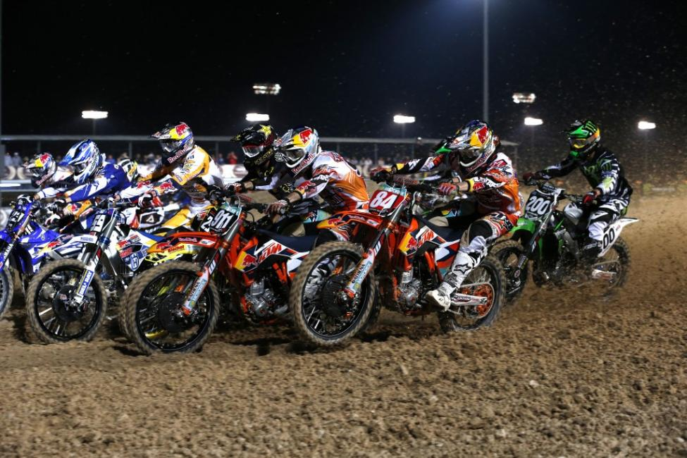 Herlings (84) had to work in Losail. He grabbed the win in moto two to snag the overall. Photo: Ray Archer, KTM Images