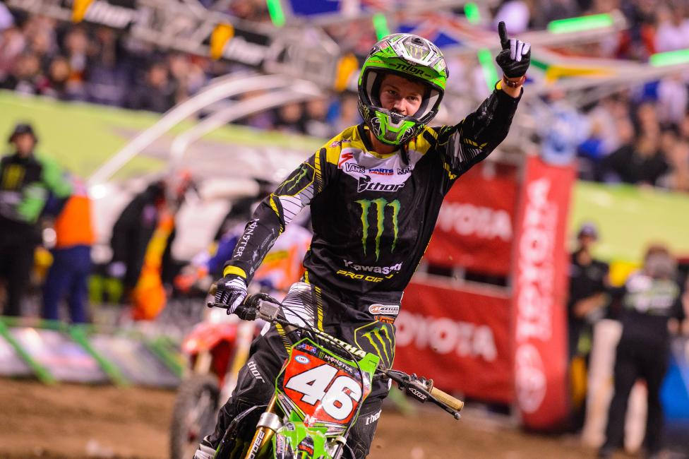 Adam Cianciarulo won for the second time in 2014 on Saturday.Photo: Simon Cudby