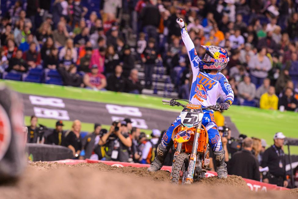 Ryan Dungey won his first race of the season in Indy.  Photo: Simon Cudby