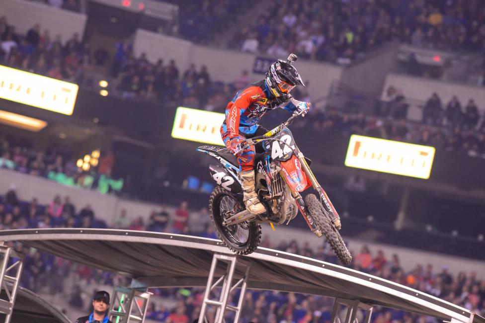 """""""It was one of the worst supercross tracks I've ridden definitely. It was hard to ride."""" - Friese Photo: Simon Cudby"""