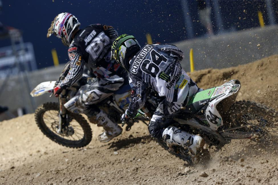 Following a DNF in moto 1, Covington finished third in moto 2. Photo: Ray Archer/Monster