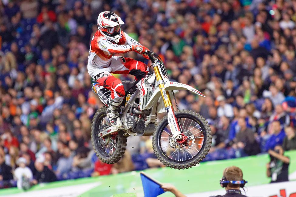 Alessi was in line for his first podium since 2009 in Indy before ... Photo: Andrew Fredrickson