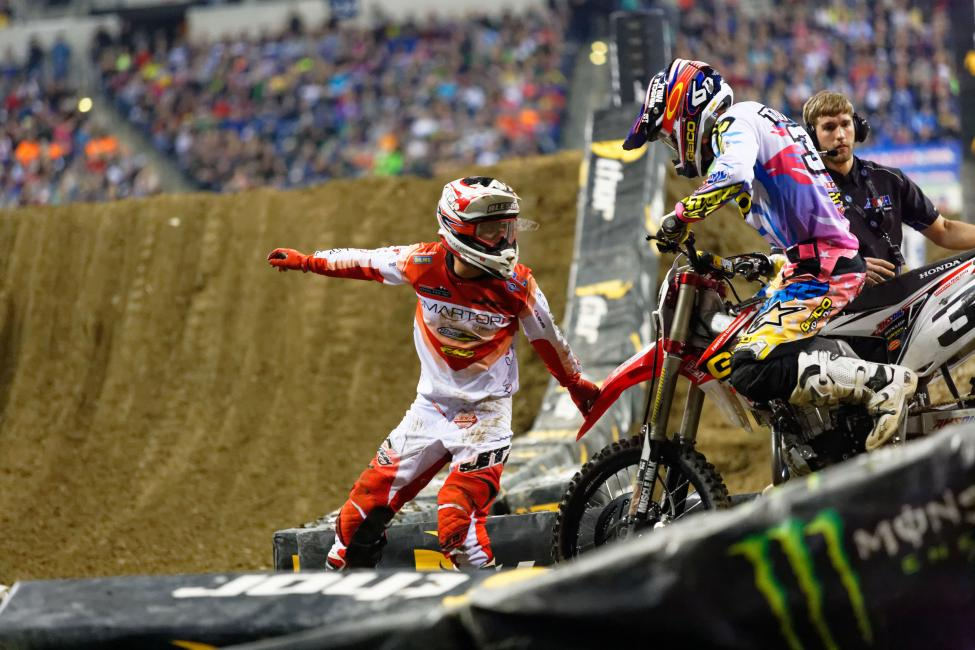 Alessi was in line for his first podium since 2009 in Indy before ...