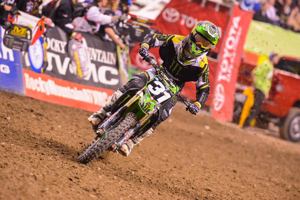 Davalos was in line for the win before crashing.