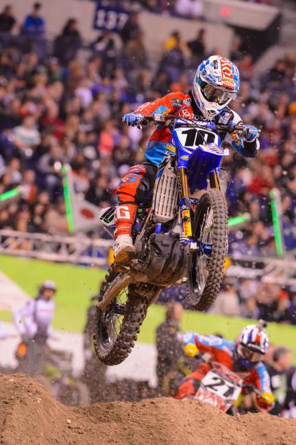 Justin Brayton fought through food poisoning to capture eighth in Indy.