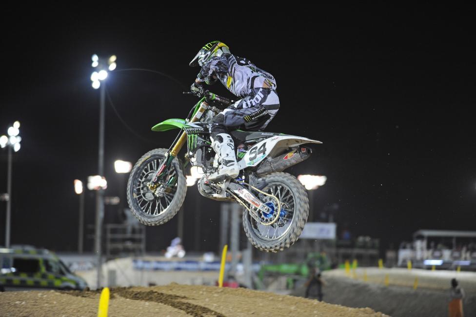 Covington finished third in the second moto at Qatar. Photo: Ray Archer/Monster