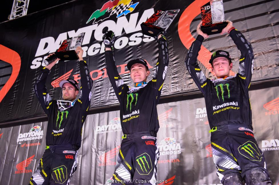 It was an all green podium at Daytona.  Photo: Simon Cudby
