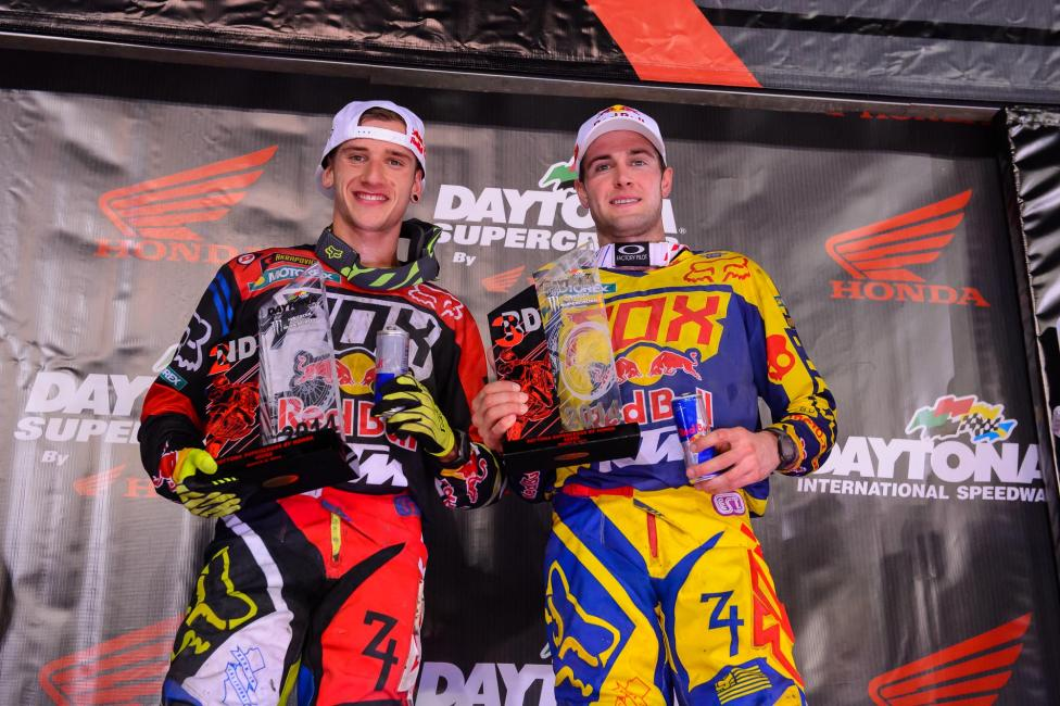 Red Bull KTM rounded out the podium with a 2-3 performance. Photo: Simon Cudby