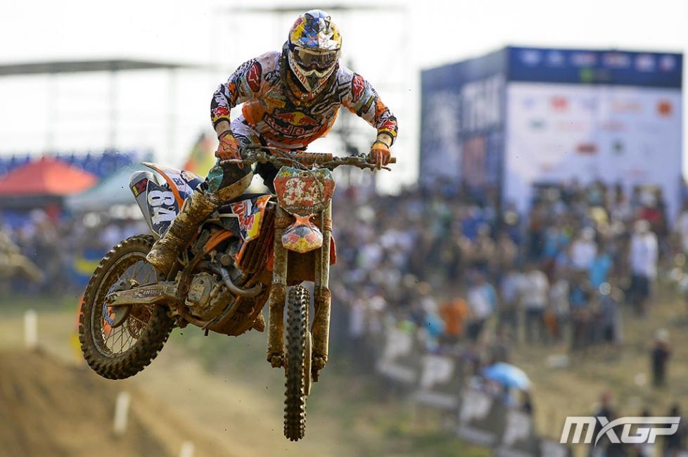 Jeffrey Herlings went 1-1 in MX2 for the overall. Photo: MXGP