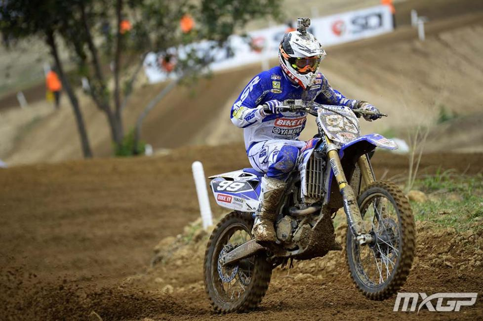 Max Anstie finished third overall. Photo: MXGP