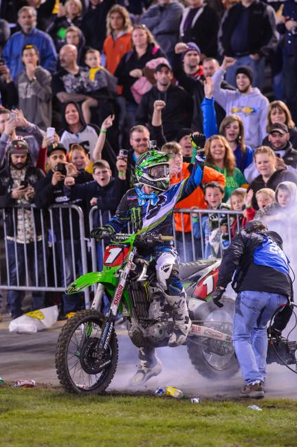 Dominating performance from Ryan Villopoto at Daytona. Photo: Simon Cudby