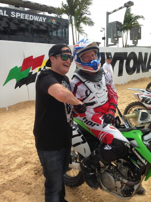 RC hanging with a fan at RCSX.