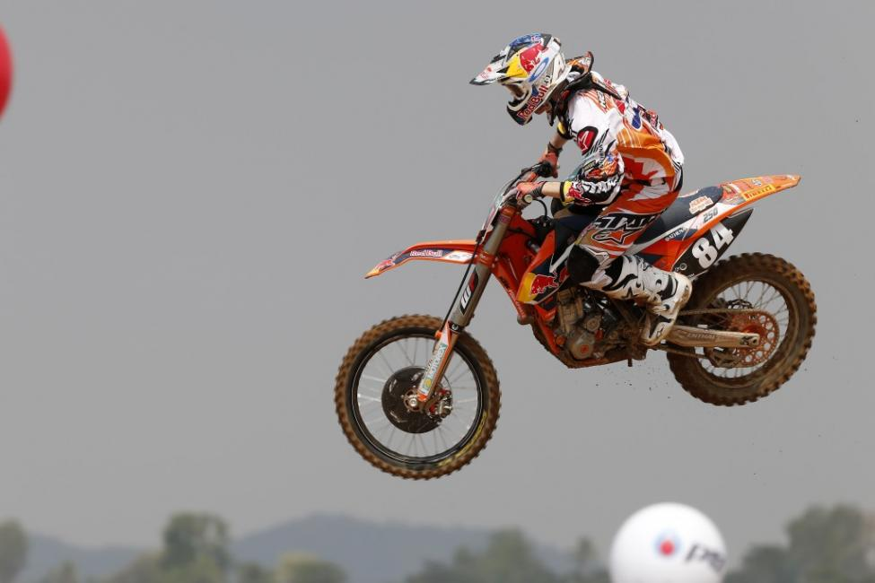No problems for race winner Jeffrey Herlings in Thailand.