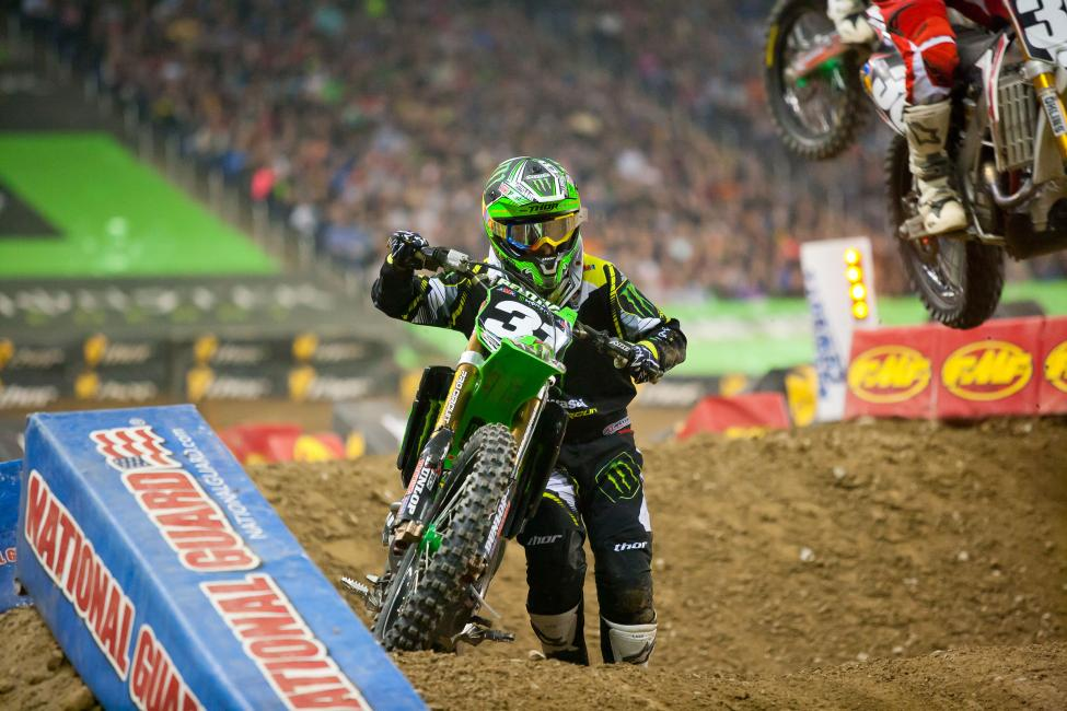 A huge crash in practice turned the night into one of survival for Martin Davalos, and more issues in the main didn't help. Photo: Andrew Fredrickson