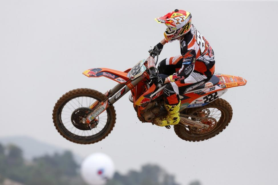 Antonio Cairoli leads the MXGP class.