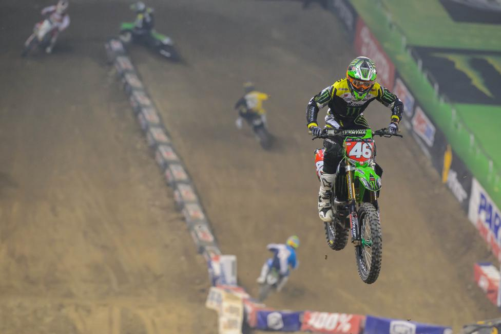 Adam Cianciarulo extended his points lead with a win in Detroit.Photo: Simon Cudby