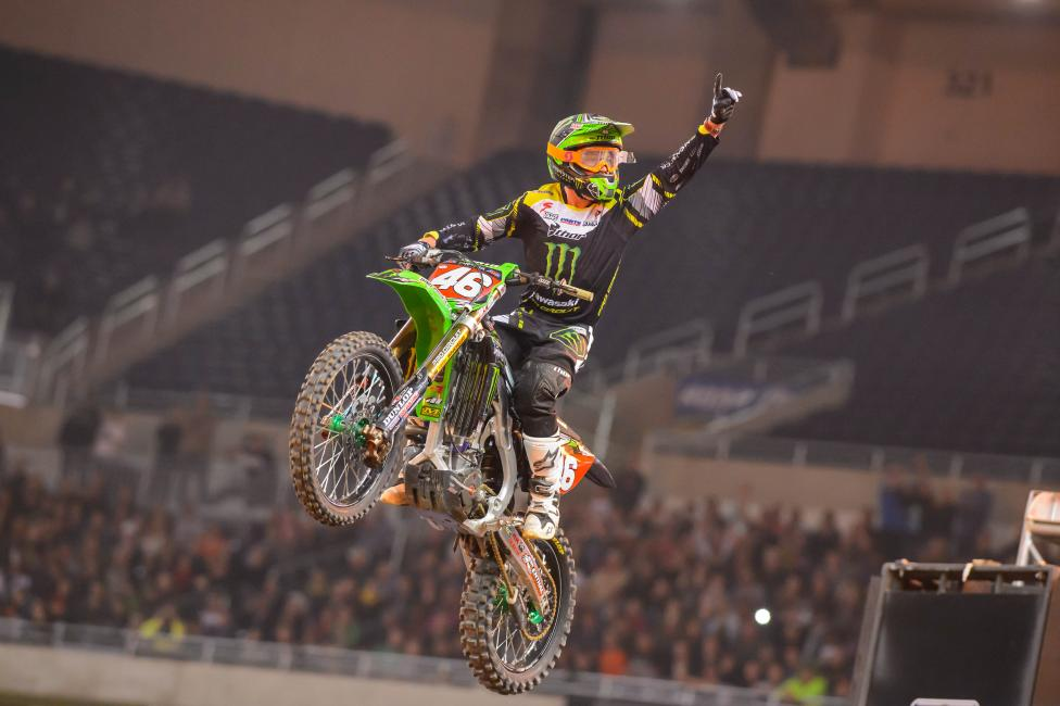 Cianciarulo tamed a slick track in Detroit to capture the win Saturday night. Photo: Simon Cudby