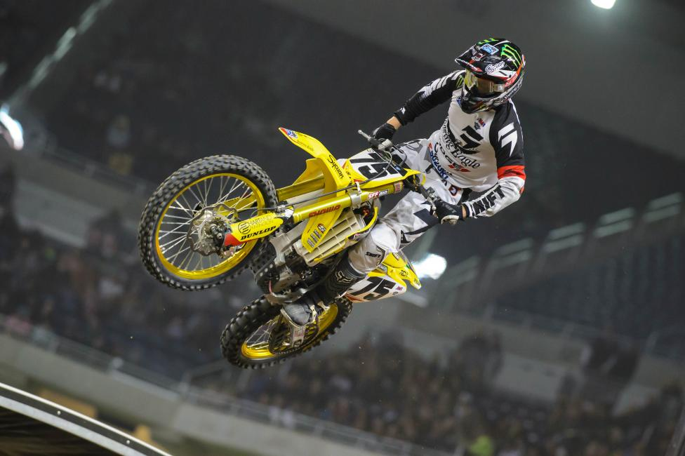 Soaring Eagle Casino RCH riders Josh Hill and Broc Tickle had a big night in front of their sponsors.  Photo: Simon Cudby