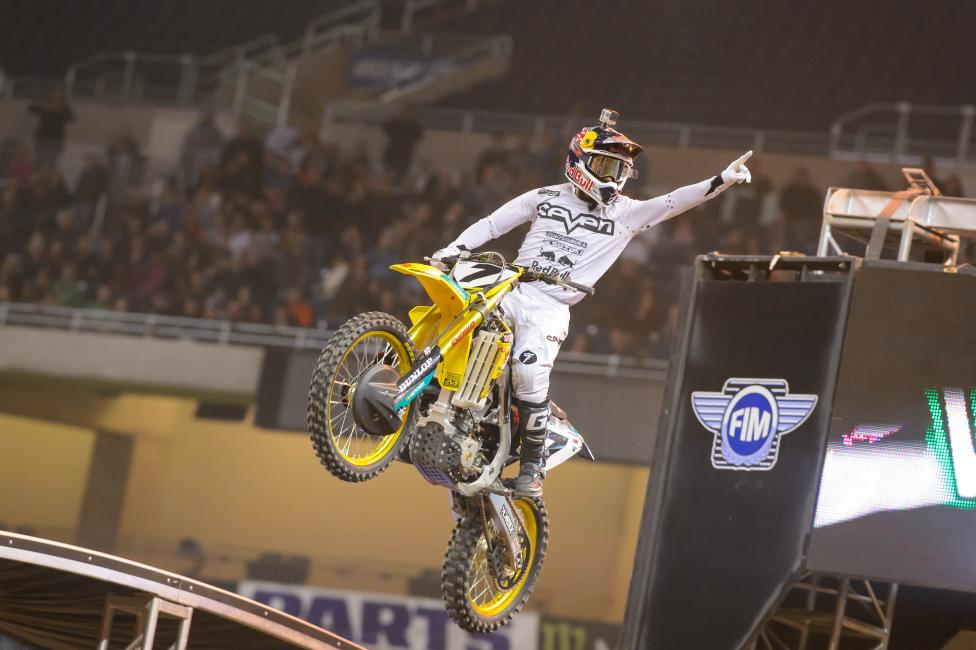 James Stewart snagged his third win of the season in Detroit.  Photo: Simon Cudby