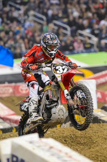 Justin Bogle had a career night in Detroit. Photo: Simon Cudby