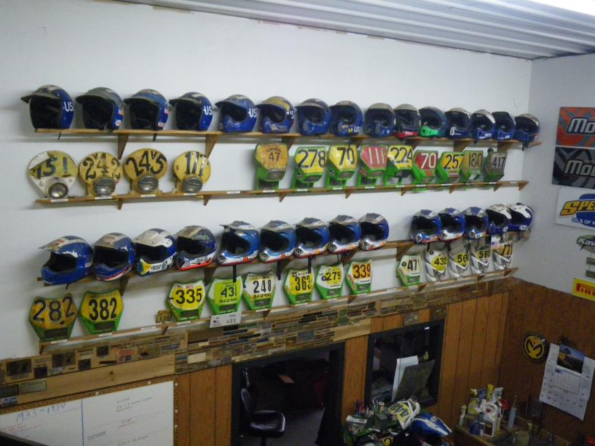 Jeff Fredette passed along this cool display of helmets. Photo: Jeff Fredette