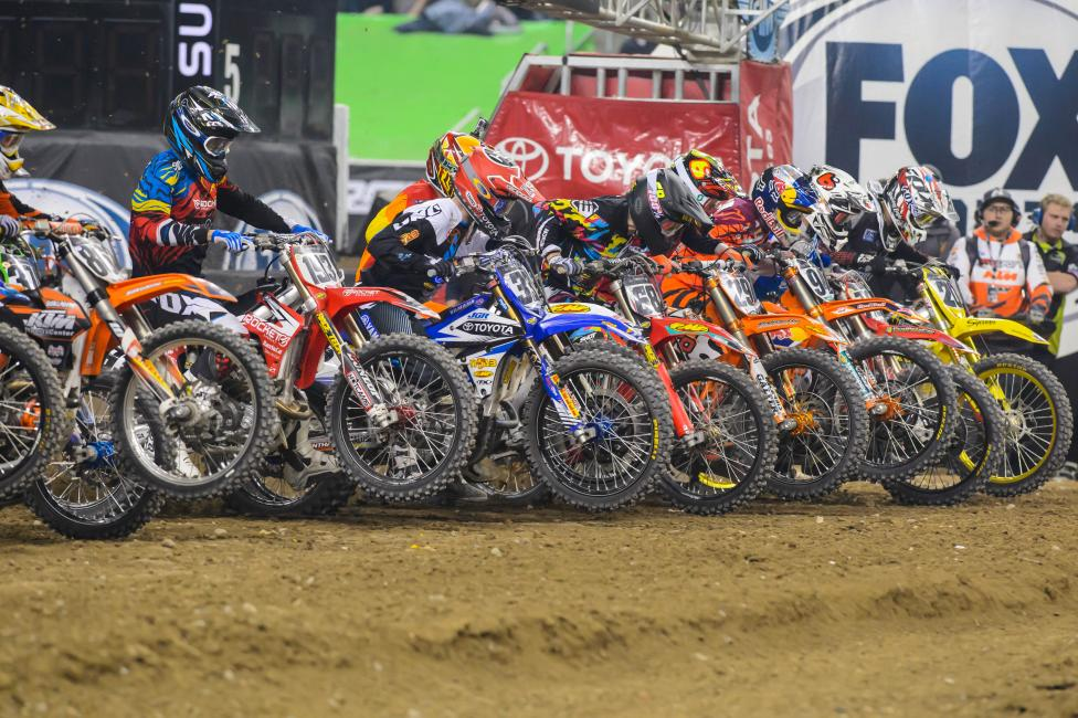 Will the 450 class provide more bar banging action this weekend? Photo: Simon Cudby