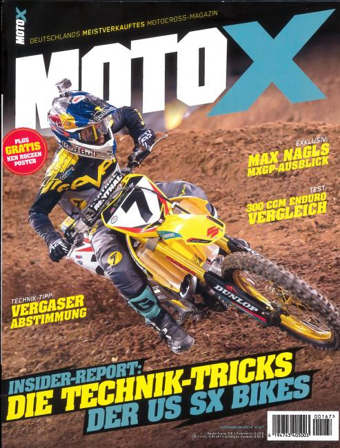 James Stewart on the cover of the new Moto X magazine in Germany, shot by Simon Cudby.Photo: Simon Cudby