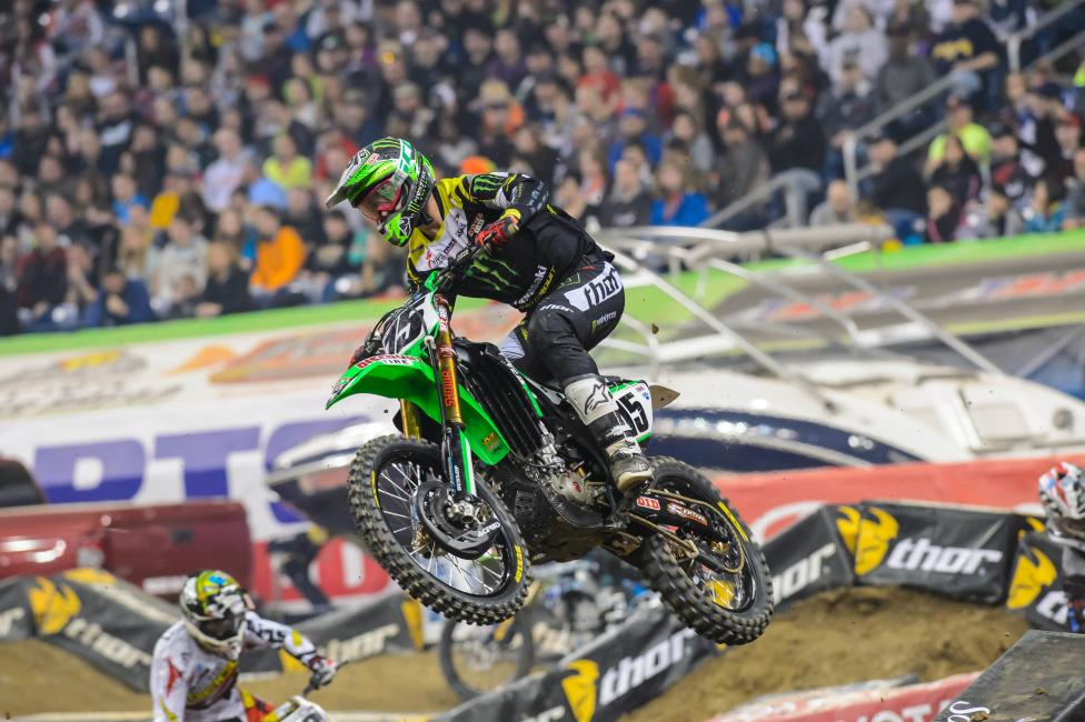 It was a tough night for the 450SX rookies in Detroit. Photo: Simon Cudby